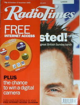 <!--1999-10-30-->Radio Times magazine - Gary Rhodes cover (30 October-5 Nov