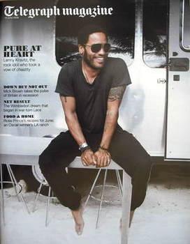 <!--2009-06-13-->Telegraph magazine - Lenny Kravitz cover (13 June 2009)
