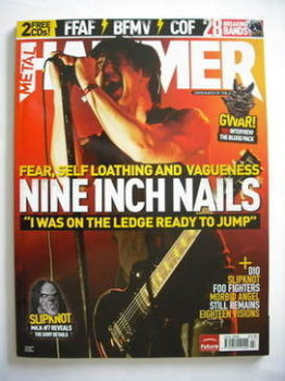 Metal Hammer magazine - Trent Reznor cover (July 2005)