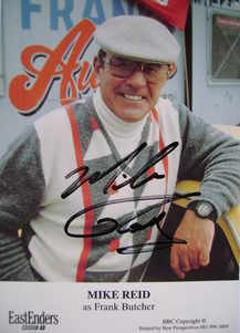 Mike Reid signed photograph (ex EastEnders actor)