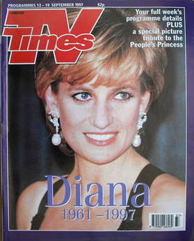 <!--1997-09-13-->TV Times magazine - Princess Diana cover (13-19 September