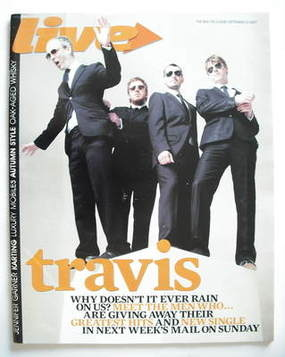 <!--2007-09-23-->Live magazine - Travis cover (23 September 2007)