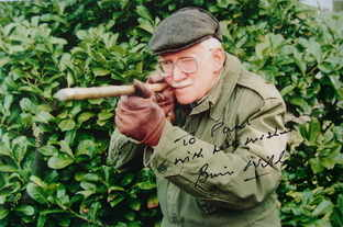 Brian Wilde autograph (hand-signed photograph, dedicated)