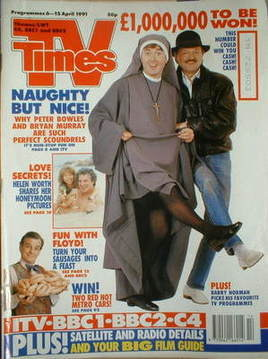 <!--1991-04-06-->TV Times magazine - Peter Bowles and Bryan Murray cover (6