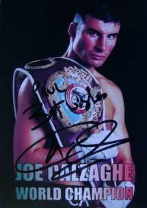 Joe Calzaghe autograph