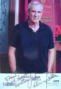 Larry Lamb autograph (ex EastEnders actor)