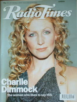 <!--1999-10-23-->Radio Times magazine - Charlie Dimmock cover (23-29 Octobe