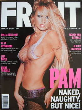<!--2001-09-->Front magazine - Pamela Anderson cover (September 2001)