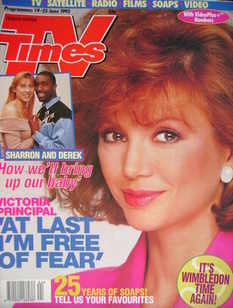 <!--1993-06-19-->TV Times magazine - Victoria Principal cover (19-25 June 1