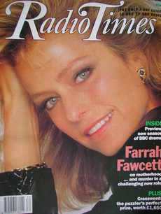 <!--1990-07-28-->Radio Times magazine - Farrah Fawcett cover (28 July - 3 A