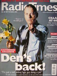 <!--2003-09-20-->Radio Times magazine - Leslie Grantham cover (20-26 Septem
