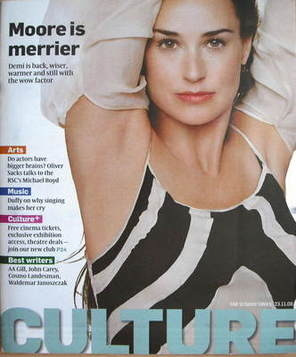 <!--2008-11-23-->Culture magazine - Demi Moore cover (23 November 2008)