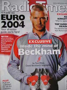 <!--2004-06-12-->Radio Times magazine - David Beckham cover (12-18 June 200