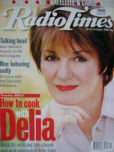 <!--1998-10-10-->Radio Times magazine - Delia Smith cover (10-16 October 19