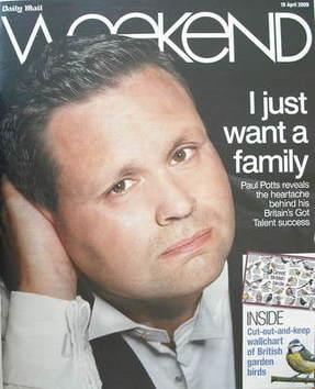 Weekend magazine - Paul Potts cover (18 April 2009)