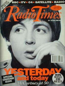 <!--1992-06-13-->Radio Times magazine - Paul McCartney cover (13-19 June 19