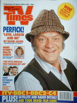 <!--1991-04-27-->TV Times magazine - David Jason cover (27 April-3 May 1991