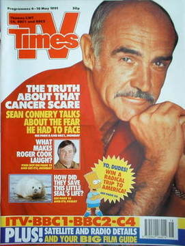 <!--1991-05-04-->TV Times magazine - Sean Connery cover (4-10 May 1991)