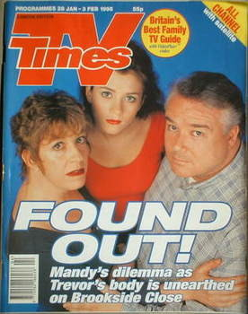 <!--1995-01-28-->TV Times magazine - Anna Friel, Sandra Maitland and Michae