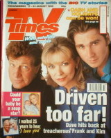 <!--1996-08-17-->TV Times magazine - Claire King, Norman Bowler and Ian Kelsey cover (17-23 August 1996)