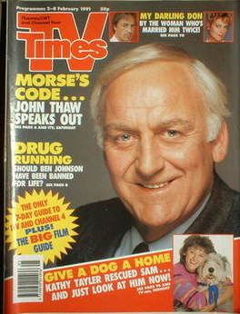 <!--1991-02-02-->TV Times magazine - John Thaw cover (2-8 February 1991)