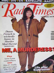 <!--1991-11-09-->Radio Times magazine - Dawn French cover (9-15 November 19