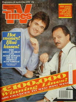 <!--1990-04-28-->TV Times magazine - Bryan Murray and Peter Bowles cover (2