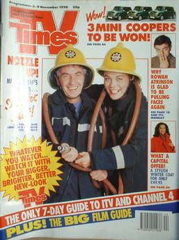<!--1990-11-03-->TV Times magazine - James Hazeldine and Samantha Beckinsal
