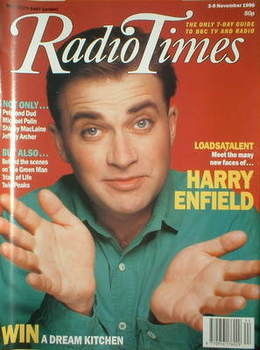 <!--1990-11-03-->Radio Times magazine - Harry Enfield cover (3-9 November 1