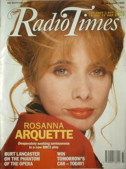 <!--1990-08-18-->Radio Times magazine - Rosanna Arquette cover (18-24 Augus