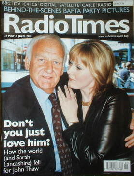 <!--2001-05-26-->Radio Times magazine - John Thaw and Sarah Lancashire cove