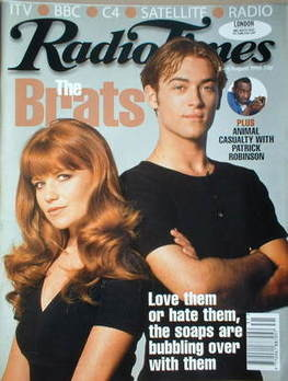<!--1996-08-03-->Radio Times magazine - Patsy Palmer and Paul Nicholls cove