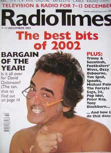 <!--2002-12-07-->Radio Times magazine - David Dickinson cover (7-13 Decembe