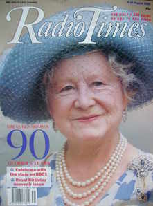 <!--1990-08-04-->Radio Times magazine - The Queen Mother cover (4-10 August