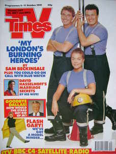 <!--1991-10-05-->TV Times magazine - London's Burning cover (5-11 October 1
