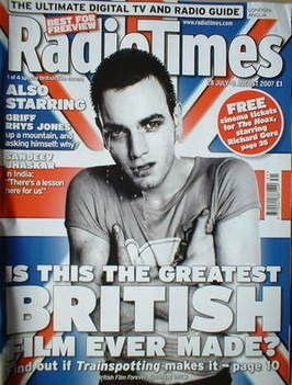 <!--2007-07-28-->Radio Times magazine - Ewan McGregor cover (28 July-3 Augu