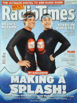 <!--2008-03-08-->Radio Times magazine - James Cracknell and David Walliams