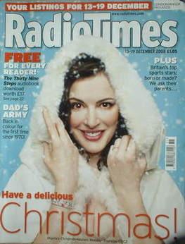 <!--2008-12-13-->Radio Times magazine - Nigella Lawson cover (13-19 Decembe