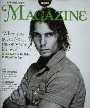 <!--2009-06-13-->The Times magazine - Rafael Nadal cover (13 June 2009)