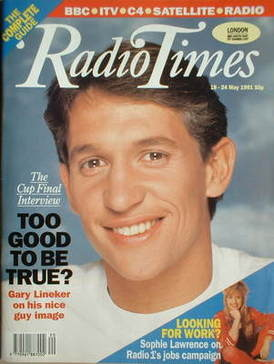 <!--1991-05-18-->Radio Times magazine - Gary Lineker cover (18-24 May 1991)
