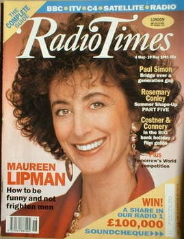 <!--1991-05-04-->Radio Times magazine - Maureen Lipman cover (4-10 May 1991