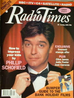 <!--1991-05-25-->Radio Times magazine - Phillip Schofield cover (25-31 May