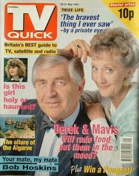 TV Quick magazine - Thelma Barlow and Peter Baldwin cover (25-31 May 1991)