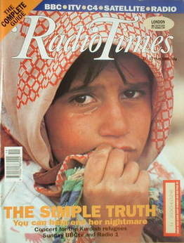 <!--1991-05-11-->Radio Times magazine - The Simple Truth cover (11-17 May 1