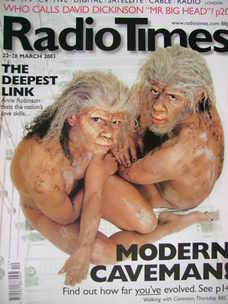 <!--2003-03-22-->Radio Times magazine - Modern Caveman cover (22-28 March 2