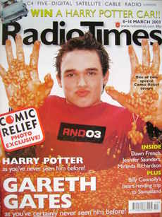 <!--2003-03-08-->Radio Times magazine - Gareth Gates cover (8-14 March 2003