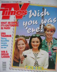 <!--1997-08-23-->TV Times magazine - Patsy Palmer, Martine McCutcheon and S