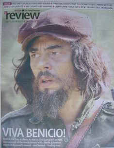 The Daily Telegraph Review newspaper supplement - 6 December 2008 - Benicio