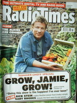 <!--2007-08-04-->Radio Times magazine - Jamie Oliver cover (4-10 August 200