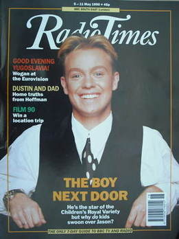 <!--1990-05-05-->Radio Times magazine - Jason Donovan cover (5-11 May 1990)
